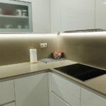 Reforma de cocina con encimera beig