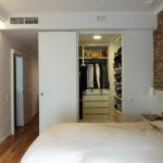 Reforma integral de piso - dormitorio principal con vestidor